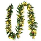 9 ft. Battery Operated Pre-Lit LED Artificial Fall Garland with 50 LED Lights