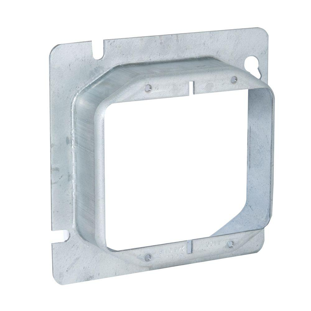 RACO 4-11/16 in. Square Two Device Mud Ring, Raised 1-1/4...