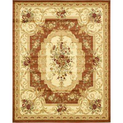Traditional  Versailles Brick Red 10 ft. x 13 ft. Rug