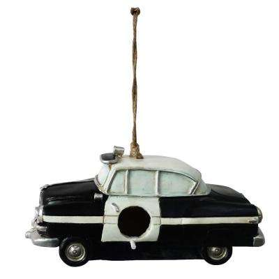 Hanging Police Car Bird House Decor