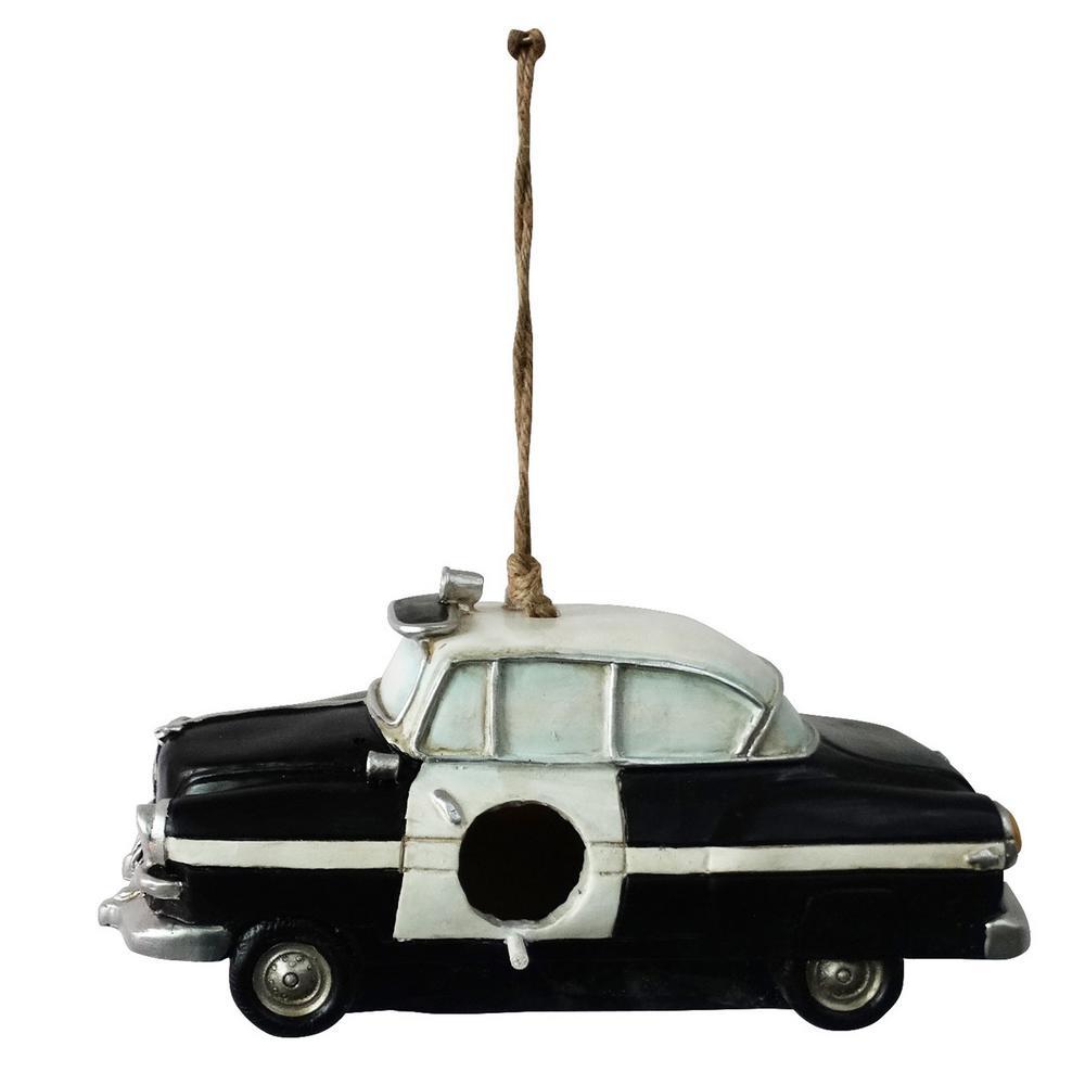 Hanging Police Car Bird House Decor