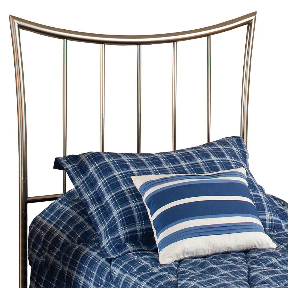 Hillsdale Furniture Eva Dull Nickel Twin-Size Headboard-DISCONTINUED