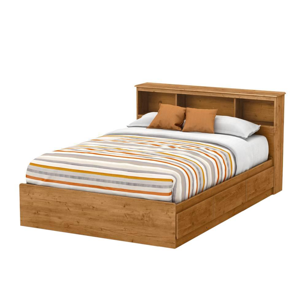 South Shore Little Treasures 3-Drawer Country Pine Full-Size Storage Bed