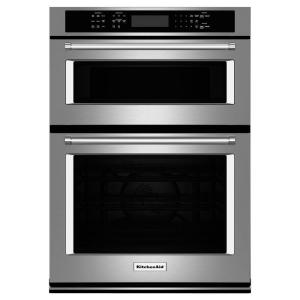 KitchenAid 27 inch Electric Even-Heat True Convection Wall Oven with Built-In Microwave in Stainless Steel by KitchenAid