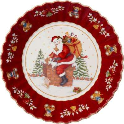 Toy's Fantasy 9.75 in. Large Bowl Santa on Roof