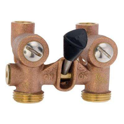 1/2 in. Bronze Sweat x MHT Washing Machine Shutoff Valve