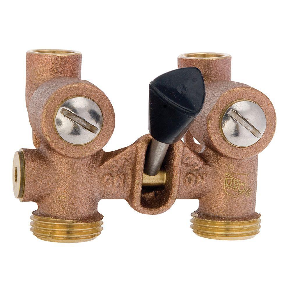 Watts 1 2 In Bronze Sweat X Mht Washing Machine Shutoff