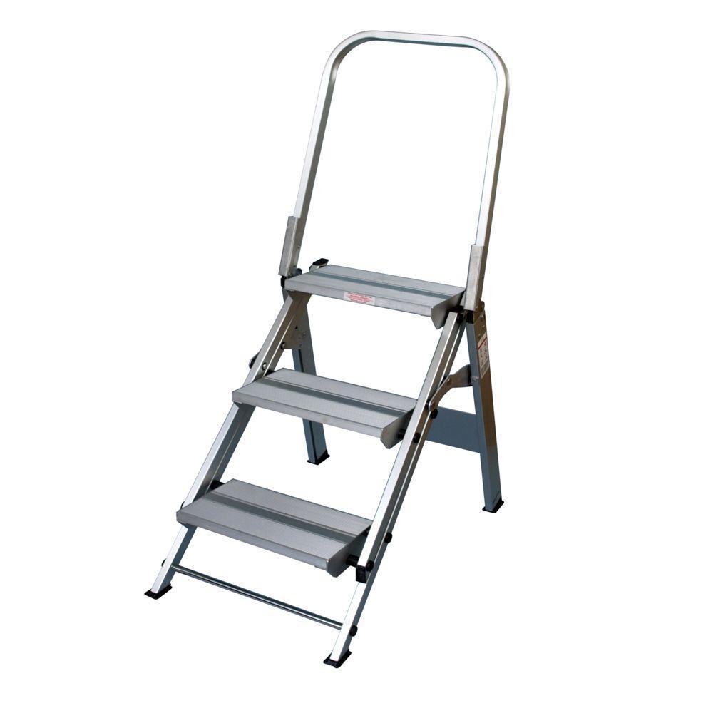 Xtend and Climb Ultra Duty Folding 3-Step Handrail Step 375 lb. Load Capacity Type IAA Duty Rating
