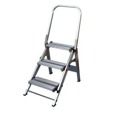 Ultra Duty Folding 3-Step Handrail Step 375 lb. Load Capacity Type IAA Duty Rating