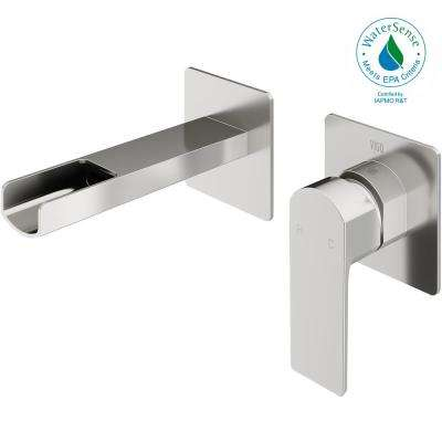 Atticus Single-Handle Wall Mount Bathroom Faucet in Brushed Nickel
