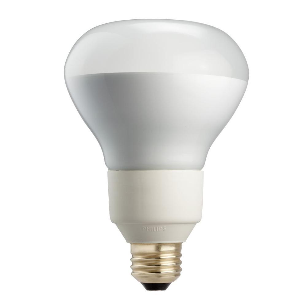 Philips 16-Watt (75-Watt) R30 Energy Saver Compact Fluorescent Cool White (4100K) Flood Light Bulb-DISCONTINUED