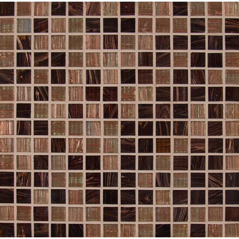Treasure Trail Iridescent 12 In X 4mm Gl Mesh Mounted Mosaic Tile 20 Sq Ft Case