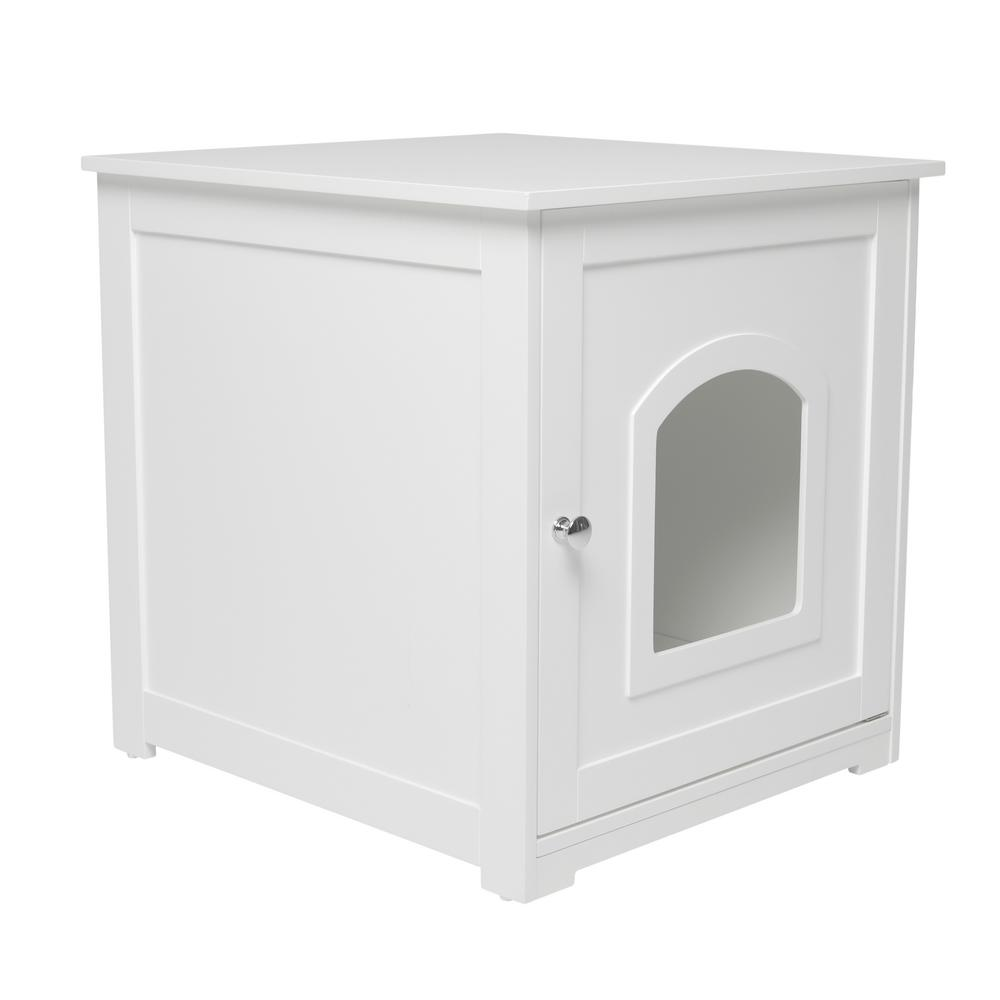 zoovilla White Kitty Loo Litter Box Cover