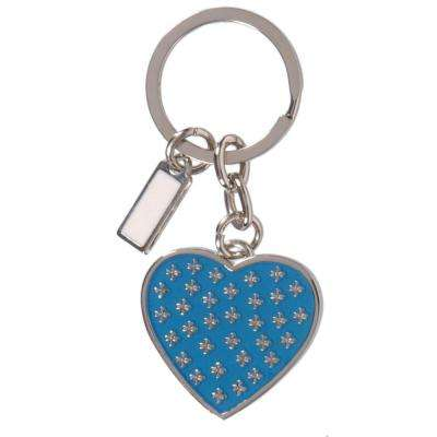 Blue Heart with Logo Key Chain (3-Pack)
