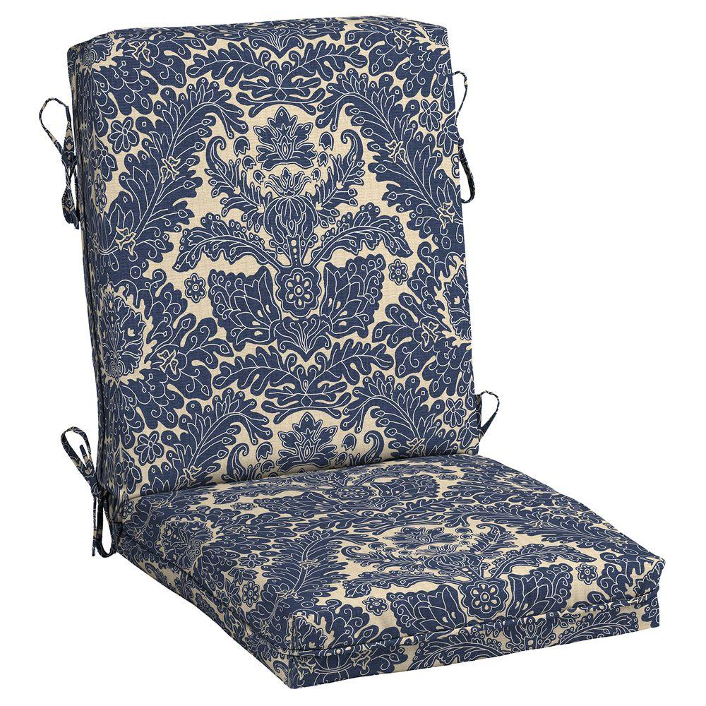 Chelsea Damask Center Welt Outdoor Chair Cushion