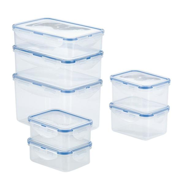 Lock Lock Easy Essentials Large 14 Piece Assorted Storage Container Set Hpt818cs The Home Depot