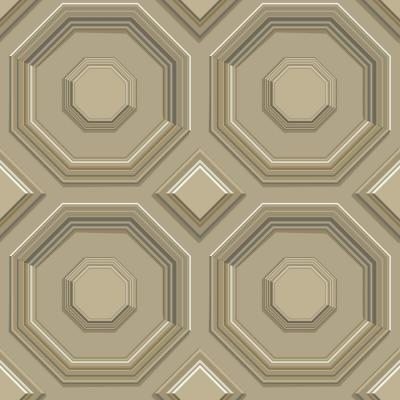 56 sq. ft. Coffered Octagon Wallpaper