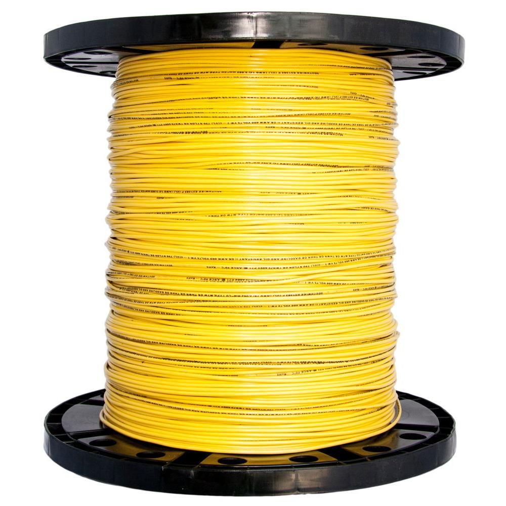 8 Wire Electrical The Home Depot Log Wiring 14 Yellow Stranded Cu Thhn