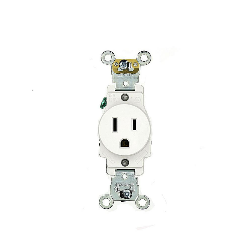 Leviton 20 Amp 125 Volt Combo Self Test Blank Face Gfci Outlet Wiring A Plug Switch 15 Industrial Grade Heavy Duty Grounding Single White