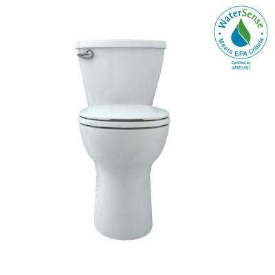 Cadet Tall Height 10 in. Rough-In 2-Piece 1.28 GPF Single Flush Round Toilet in White, Slow Close Seat Included