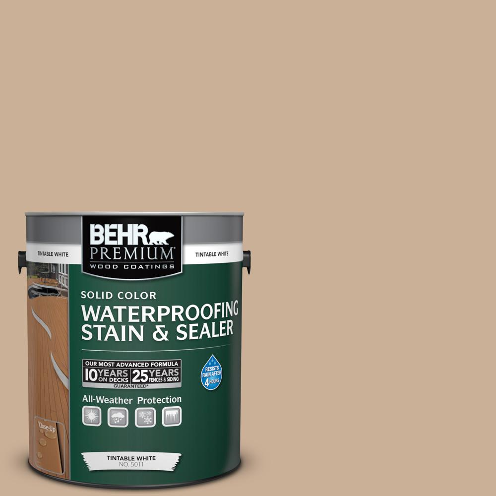 1 gal. #N260-3 Polo Tan Solid Color Waterproofing Exterior Wood Stain