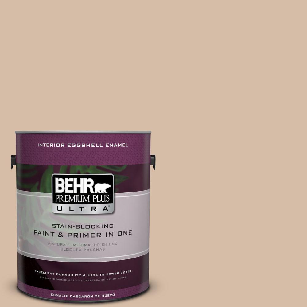 BEHR Premium Plus Ultra Home Decorators Collection 1-gal. #HDC-MD-12 Tiramisu Cream Eggshell Enamel Interior Paint