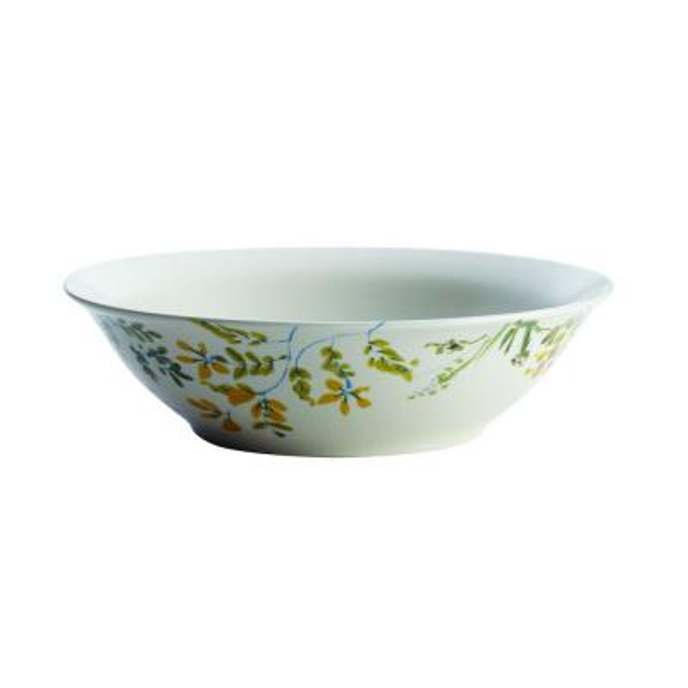 Dinnerware Garden Rooster 10 in. Stoneware Round Serving Bowl, Print