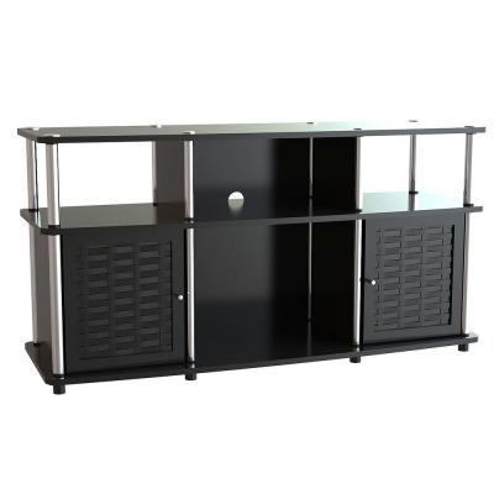 Designs2Go Chelsea Black Storage Entertainment Center