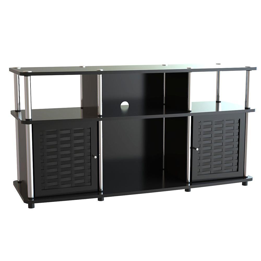 Exceptional Designs2Go Chelsea Black Storage Entertainment Center