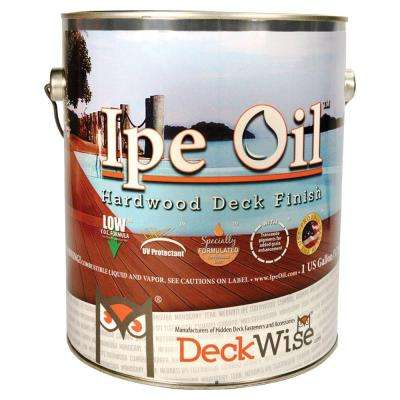 Ipe Oil Hardwood Deck Finish 1 gal. Natural Wood Oil Based Exterior Water Repelling Stain with UV Protection