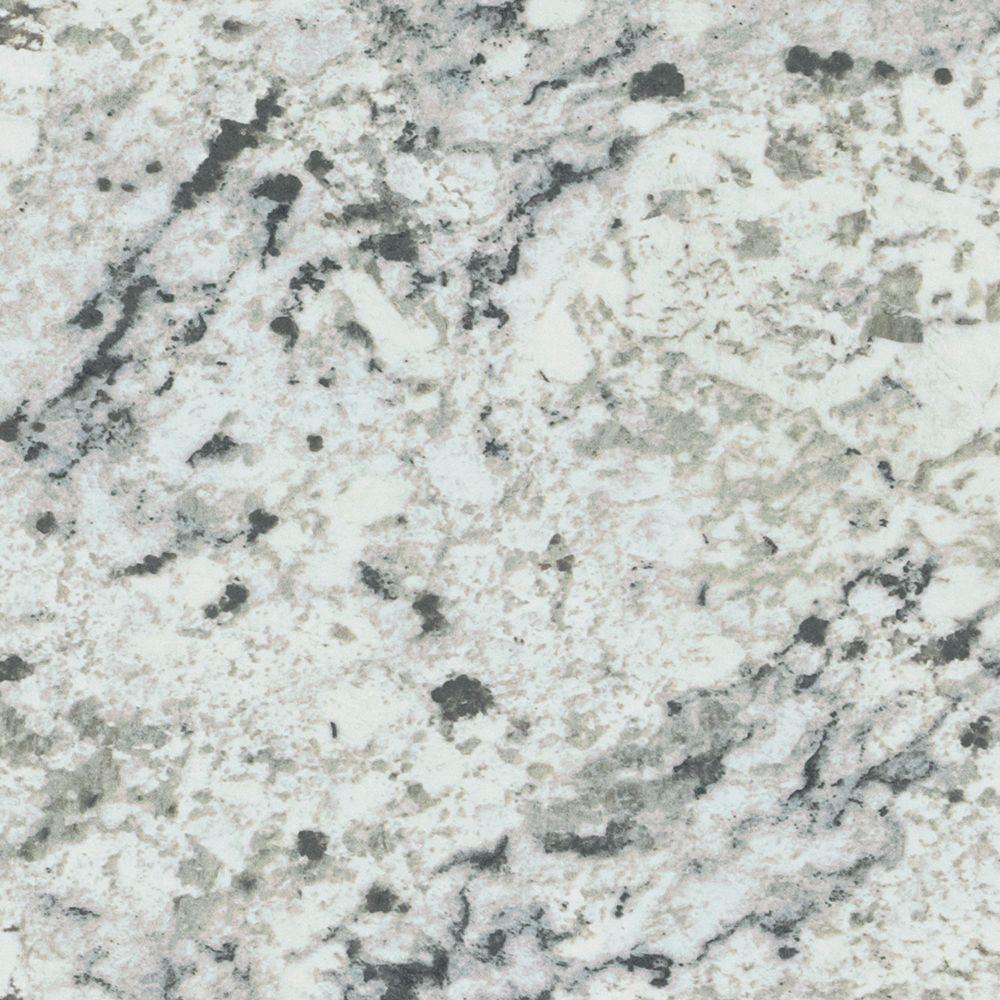 5 in. x 7 in. Laminate Sample in White Ice Granite Artisan