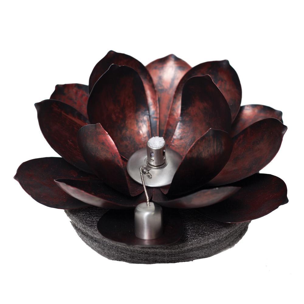 Red Metal Floating Lotus Torch