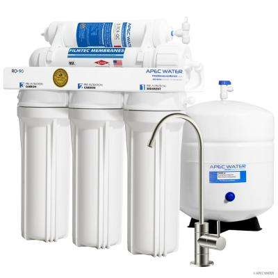 Ultimate Premium Quality WQA Certified 90 GPD Under-Sink Reverse Osmosis Drinking Water Filter System (Brushed Nickel)