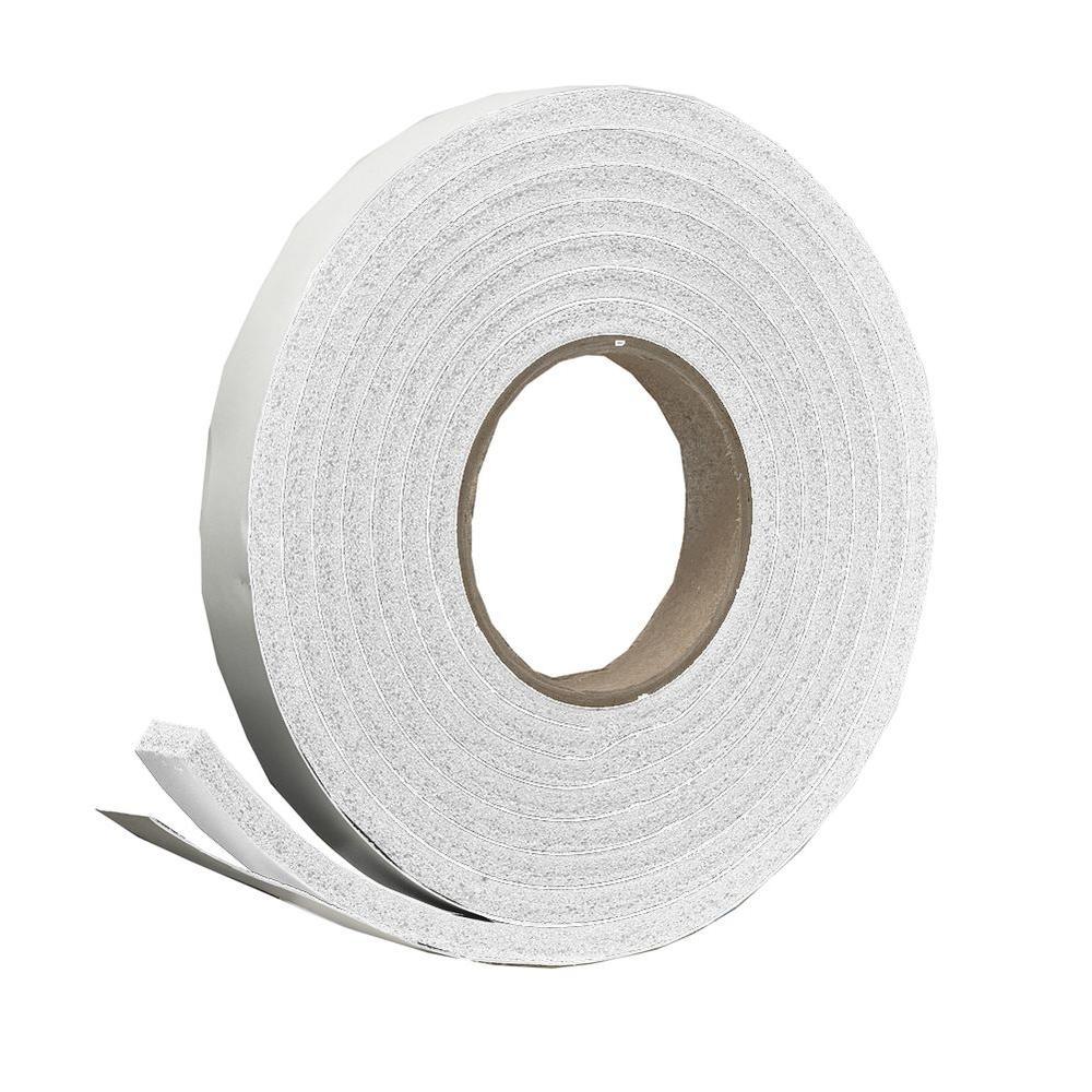 3/4 in. x 7/16 in. x 10 ft. White High-Density Rubber Foam Weatherstrip Tape