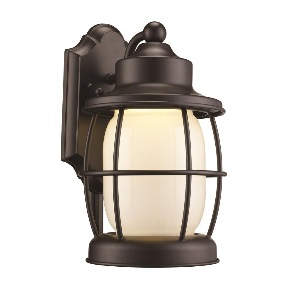 Bel Air Lighting Newport 20-Watt Rubbed Oil Bronze Outdoor Integrated LED Wall Mount Lantern