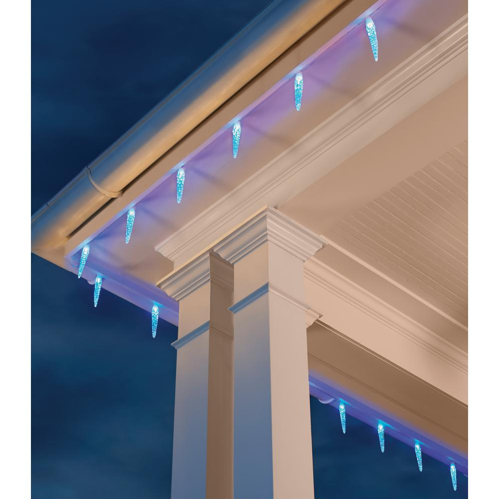 Home Accents Holiday 20l 6in Molded Icicle Light 72 Function With Remote Control