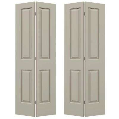 72 in. x 80 in. Cambridge Desert Sand Painted Smooth Molded Composite MDF Closet Bi-fold Door