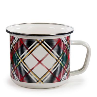 Highland Plaid 24 oz. Enamelware Grande Mug