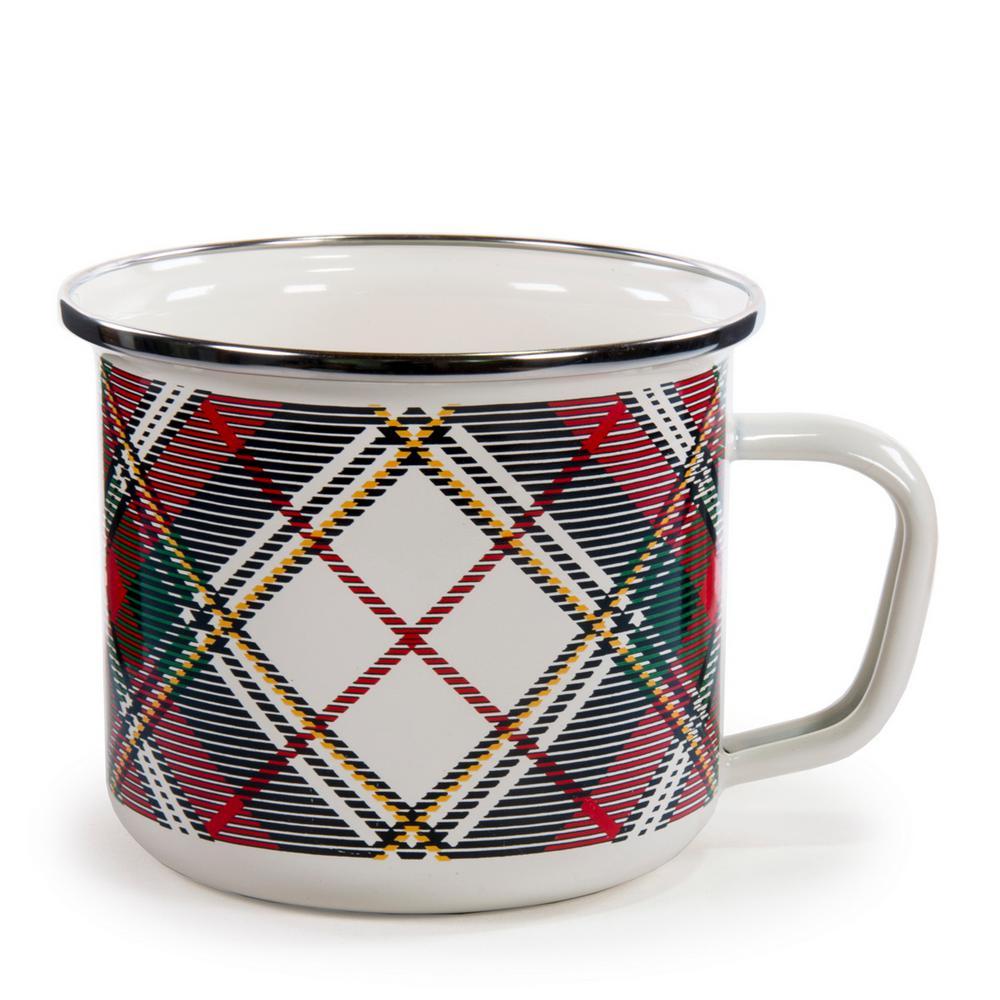 Highland Plaid 24 oz. Enamelware Grande Mug