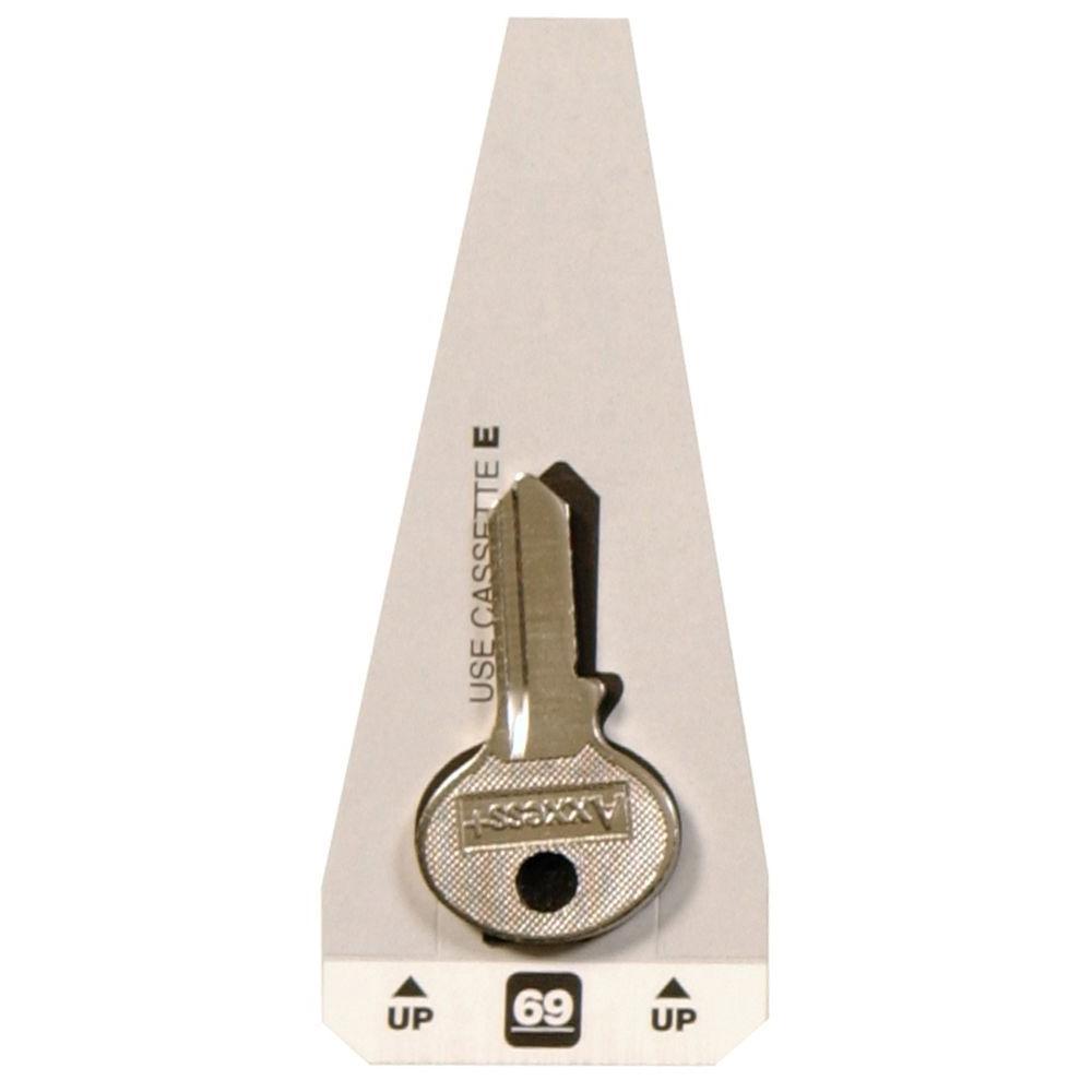 6add8c3fa2dd #69 Blank Master Padlock Key