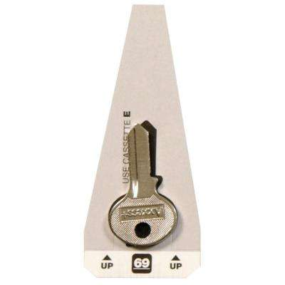 #69 Blank Master Padlock Key
