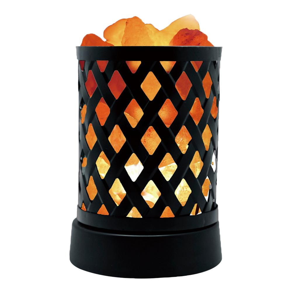 5.1 in. Lattice USB Multicolor Salt Lamp