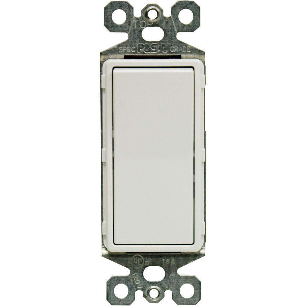 3-Way Designer Rocker On/Off Switch, White