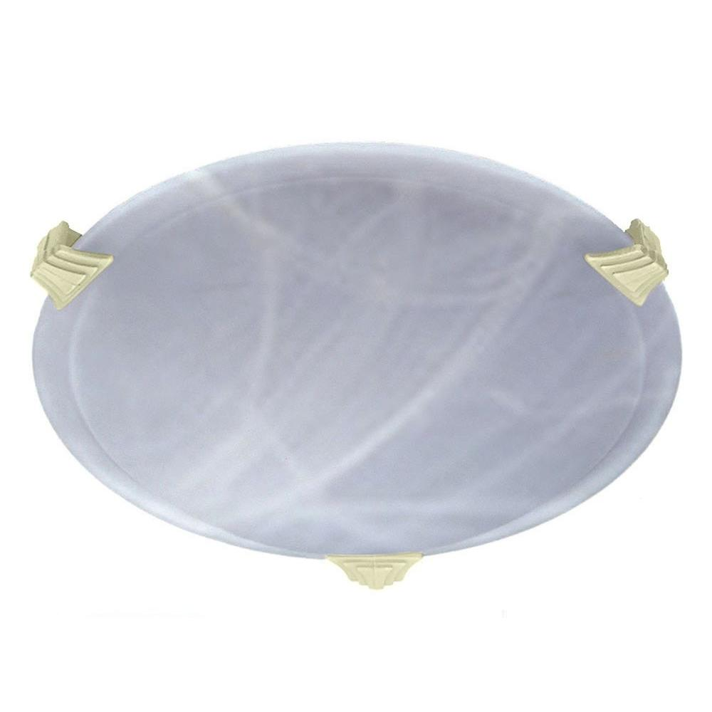 Illumine Contemporary Beauty 1-Light Polished Brass Halogen Ceiling Flush Mount