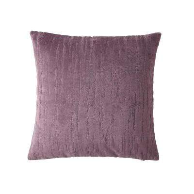 Morgan Home 18 in. Aubrey Purple Textured Throw Pillow Cover