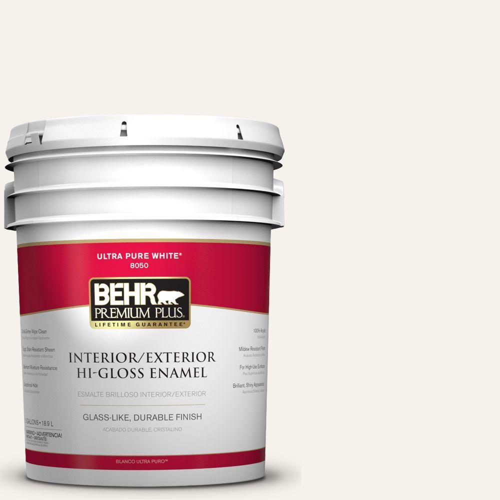 BEHR Premium Plus 5-gal. #BWC-11 Fresh Popcorn Hi-Gloss Enamel Interior/Exterior Paint