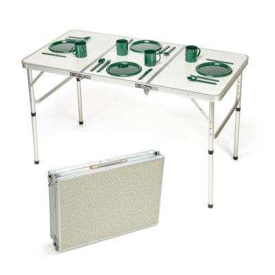 Portable Adjustable Lightweight Aluminum Folding Table
