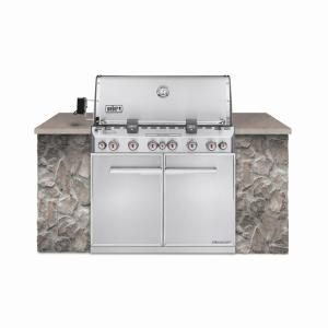 Weber Summit S-660 6-Burner Built-In Natural Gas Grill in Stainless Steel with Grill Cover and Built-In... by Weber