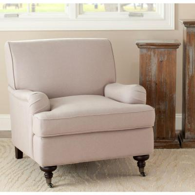 Chloe Taupe/Java Linen Club Arm Chair
