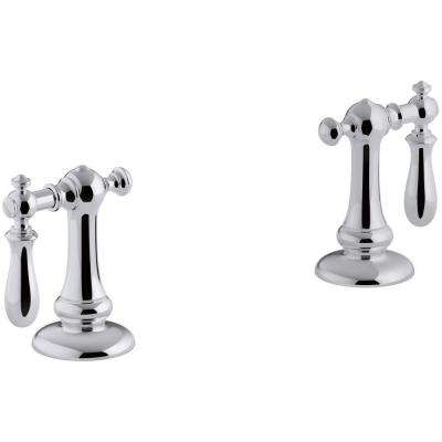 Artifacts Bathroom Sink Swing Lever Handles in Polished Chrome
